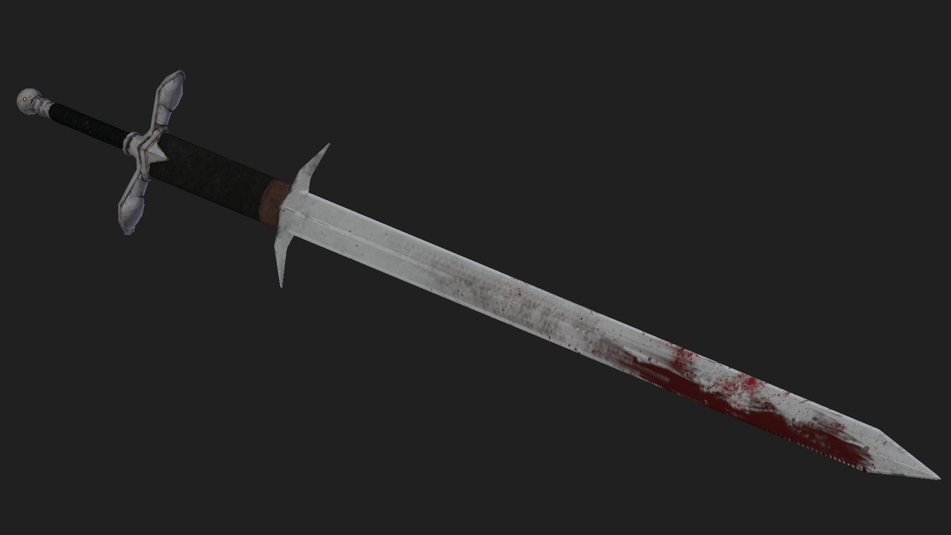 artstation zweihander two handed sword leonardo pereira