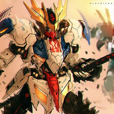 Benedick bana iron blooded orphans fanart lupus rex sword mode by benedickbana db60kqx