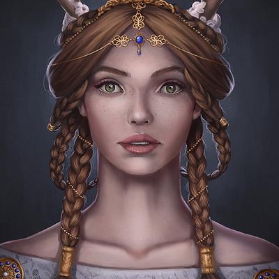 Gloria ocete portrait fantasyfinal baja