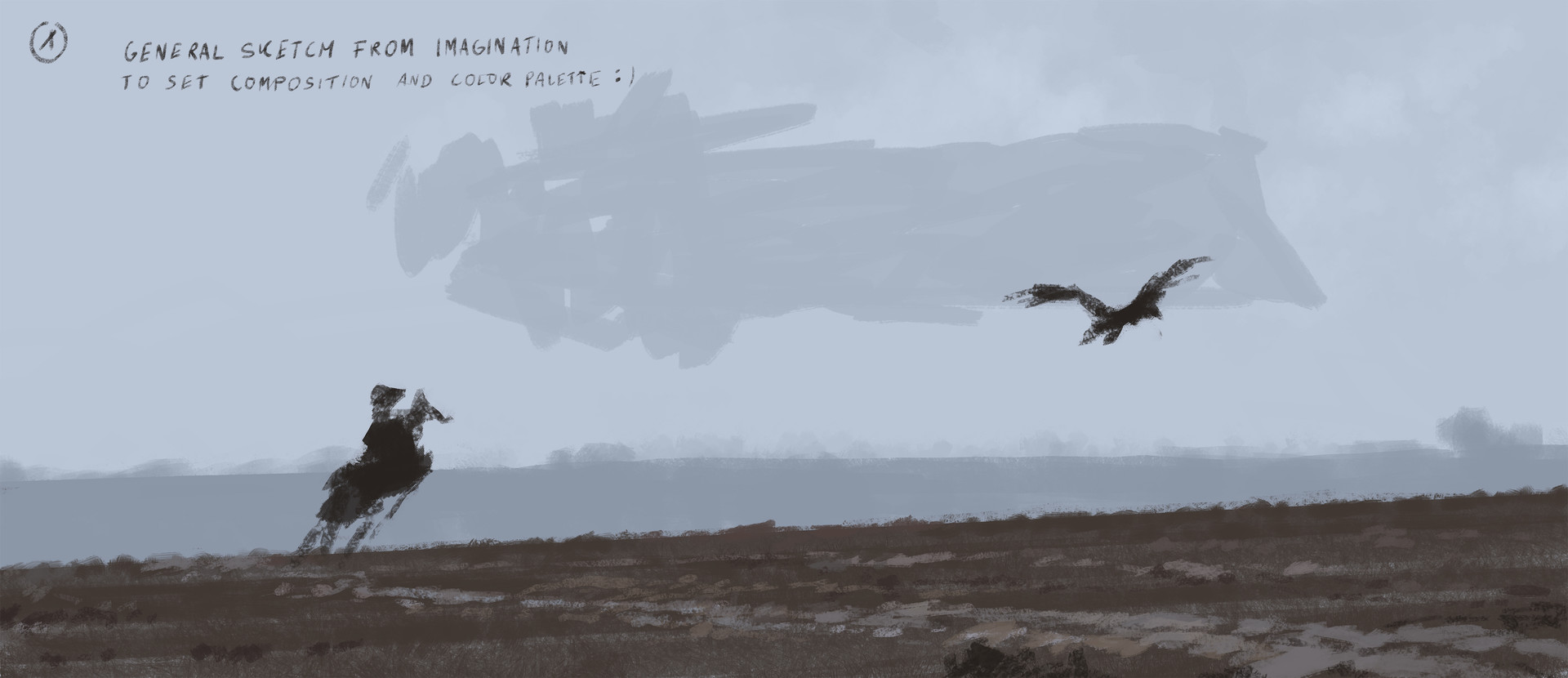 Jakub rozalski 1920 on the wings of the wind process00
