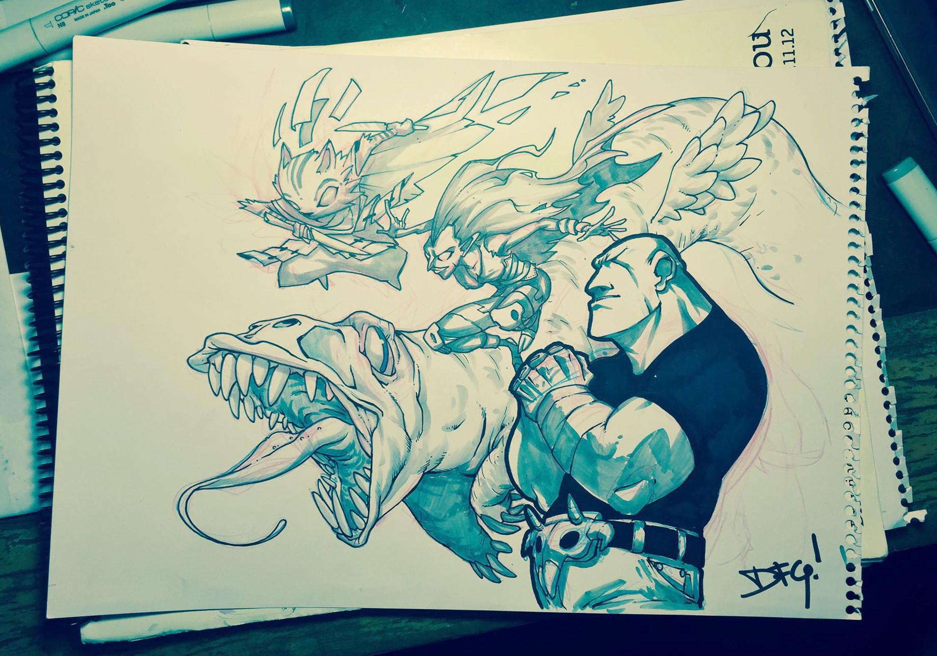 Damian fernandez gomez sketch pencil 7