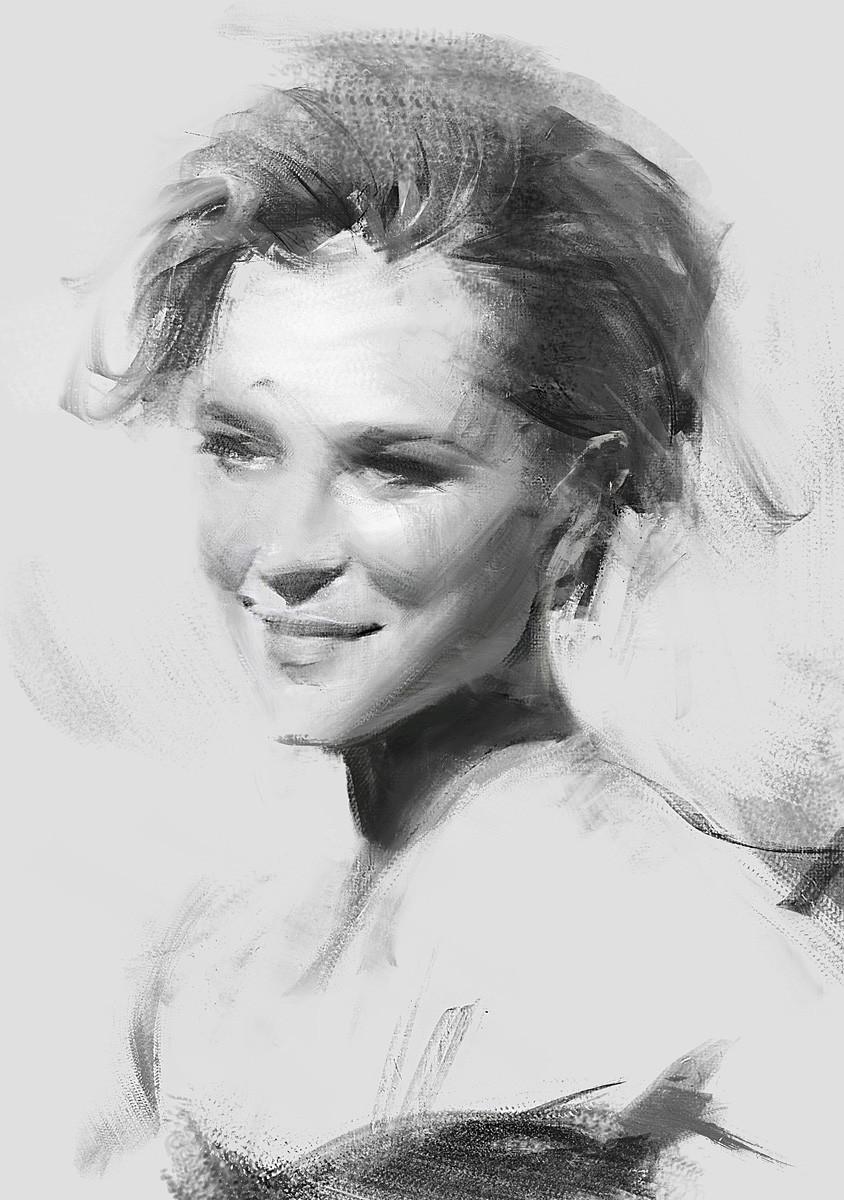 Greg rutkowski female portrait 1200