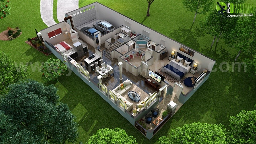 Artstation Tips For First 3d Floor Plan Software With Patio Europe Yantram Architectural Design Studio