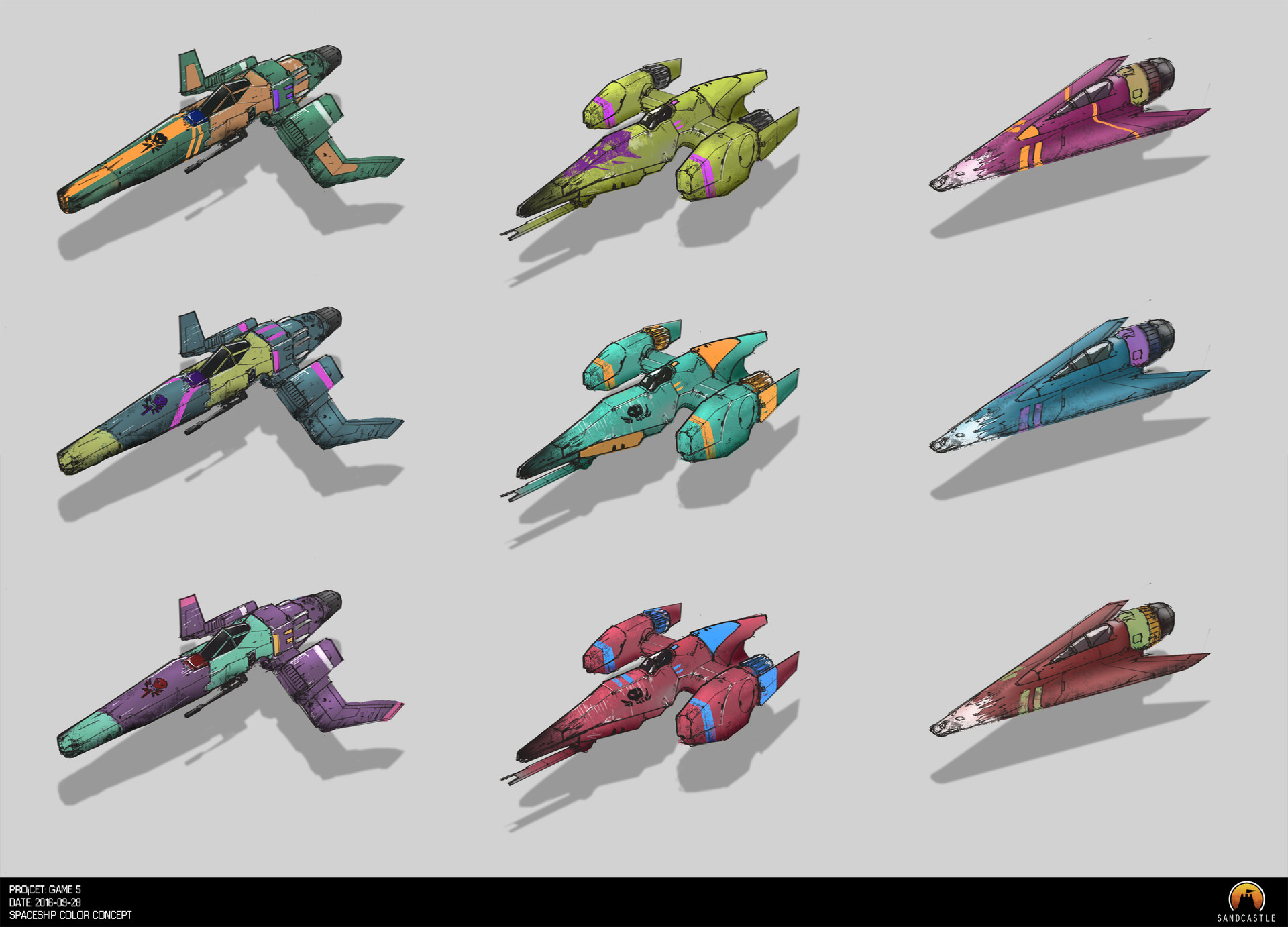 Robin tran spaceshooter spaceship color