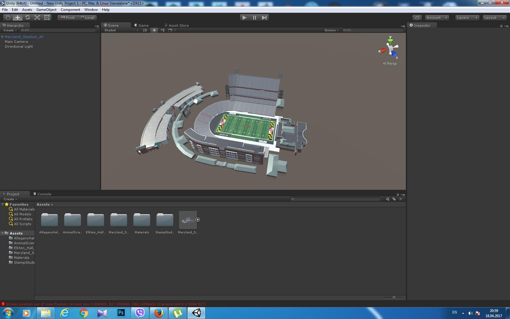 ArtStation - Maryland Stadium Building - model for Unity 3d