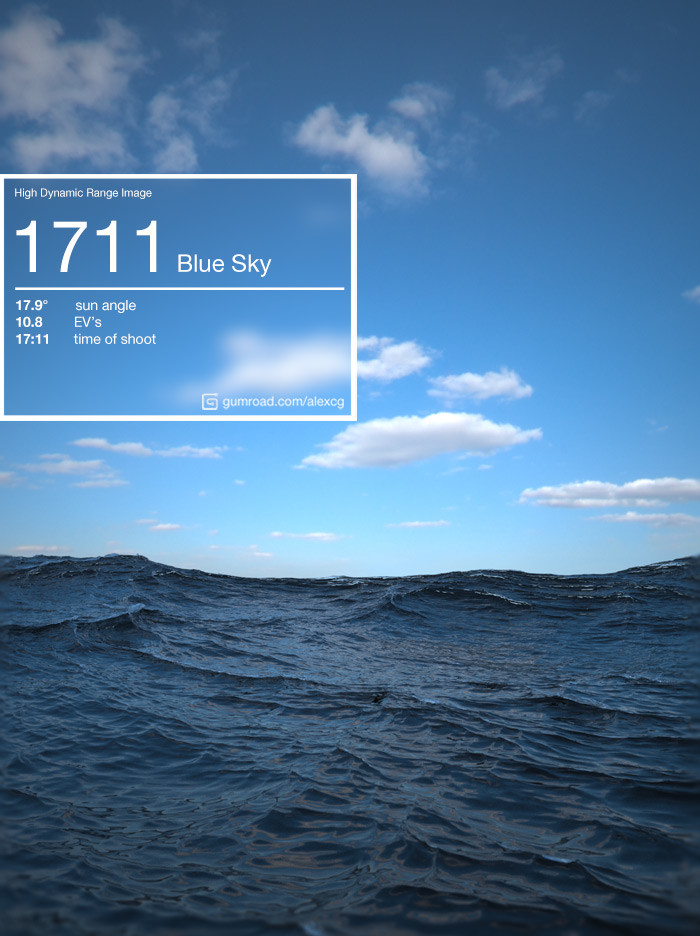 ArtStation - 1711 Blue Sky HDRi, Alex Chybowsky