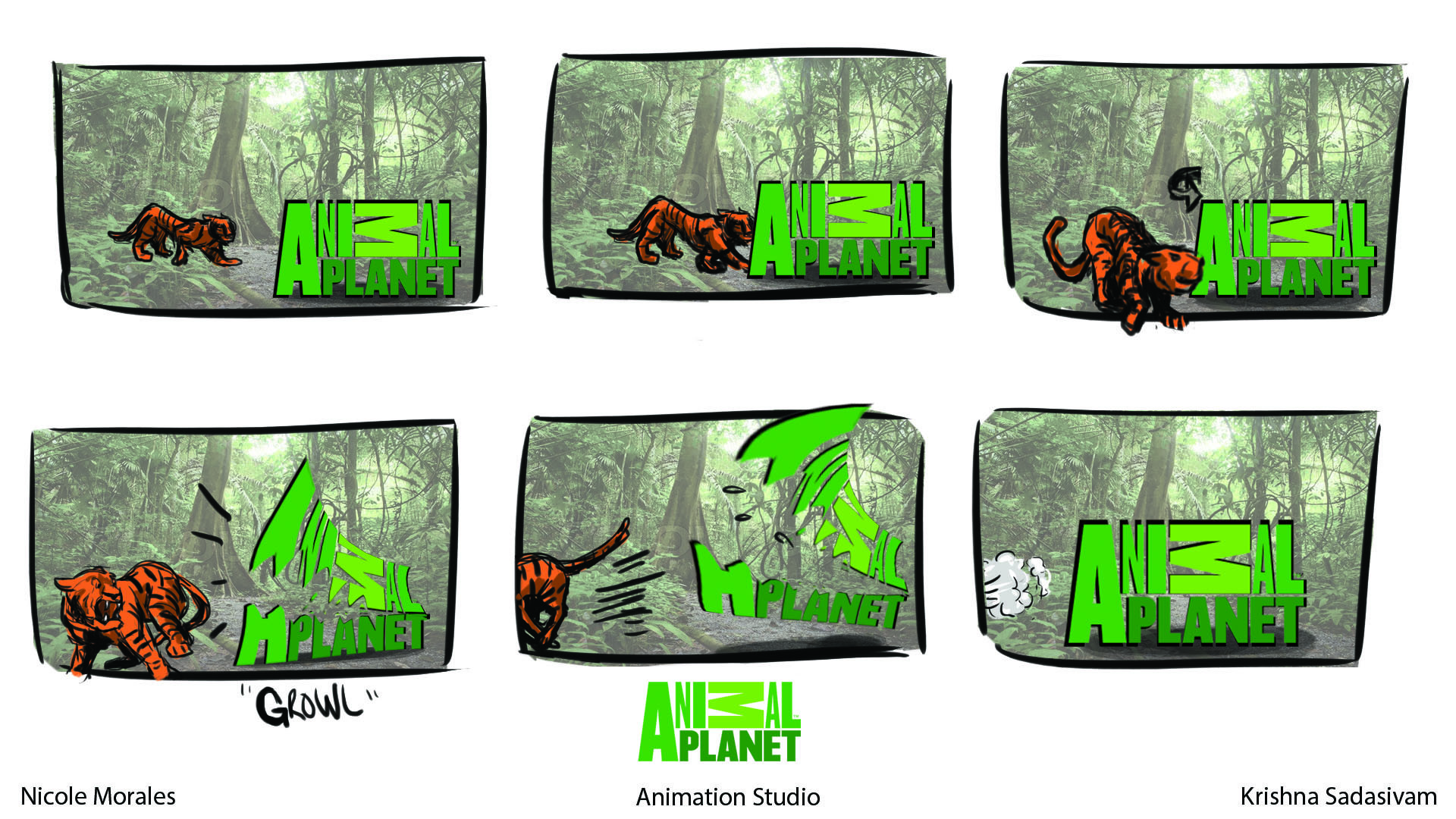 Artstation animal planet ad nicole morales 1st attempt at rough boards for animal planet bumper assignment thecheapjerseys Images