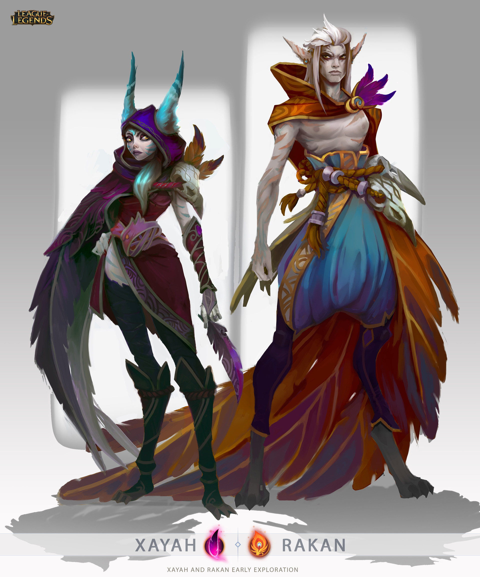 Xayah and Rakan early explorations