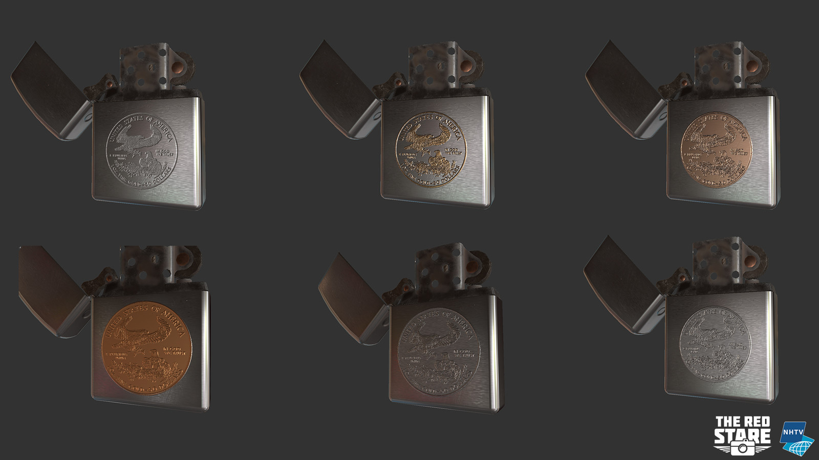 A couple of different iterations of the lighters logo