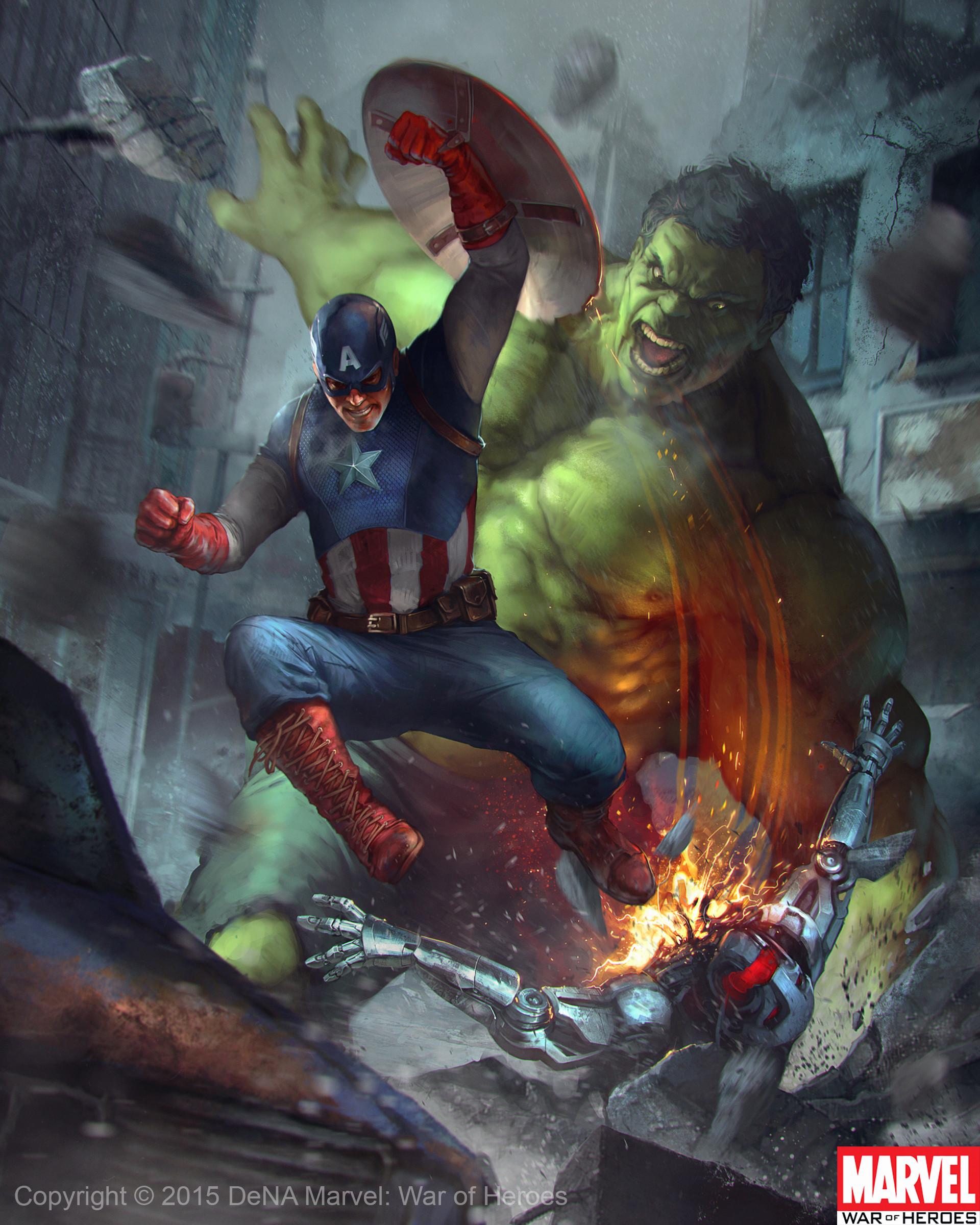 Denys tsiperko hulk captain america evo 1