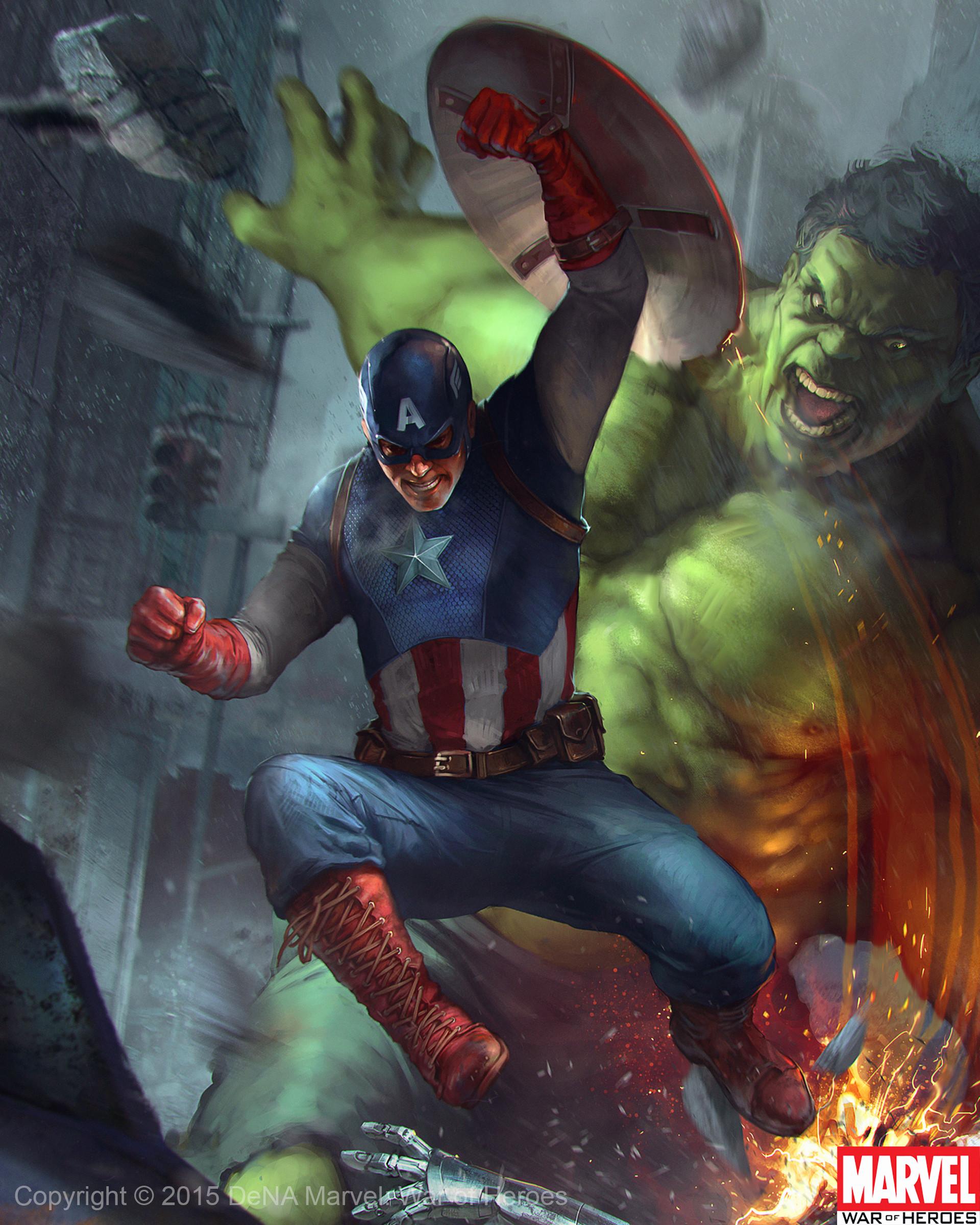 Denys tsiperko hulk captain america evo 1 1