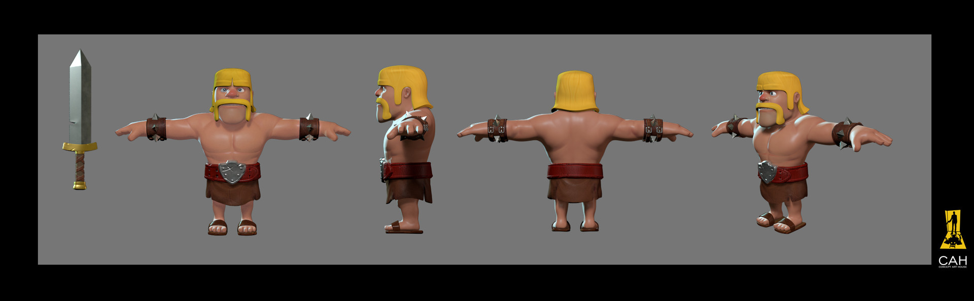 Artstation 3d models for clash of clans super bowl commercial barbarian publicscrutiny Image collections
