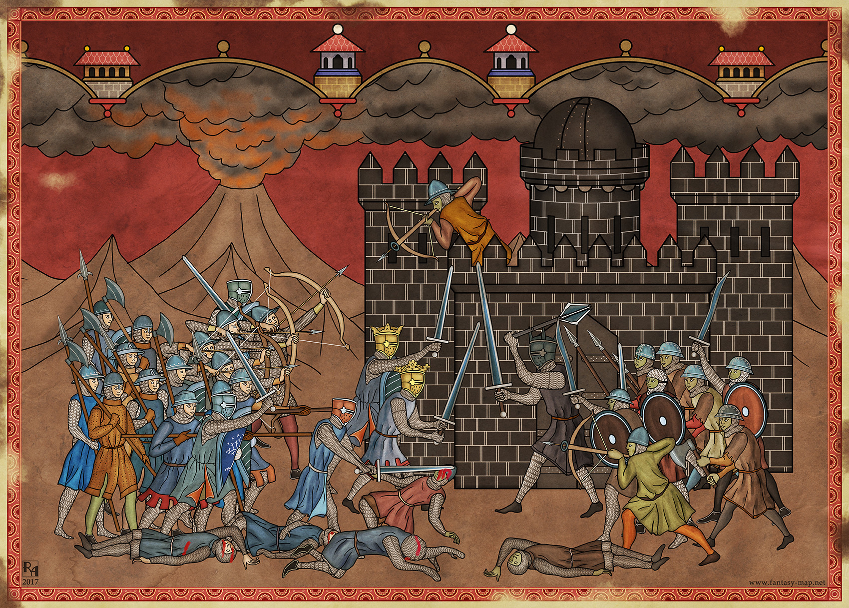 Robert altbauer isildur and elendil fighting sauron
