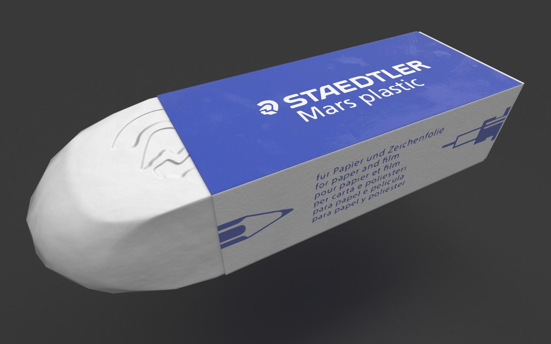 Eraser Staedtler (rubber in 3D) !
