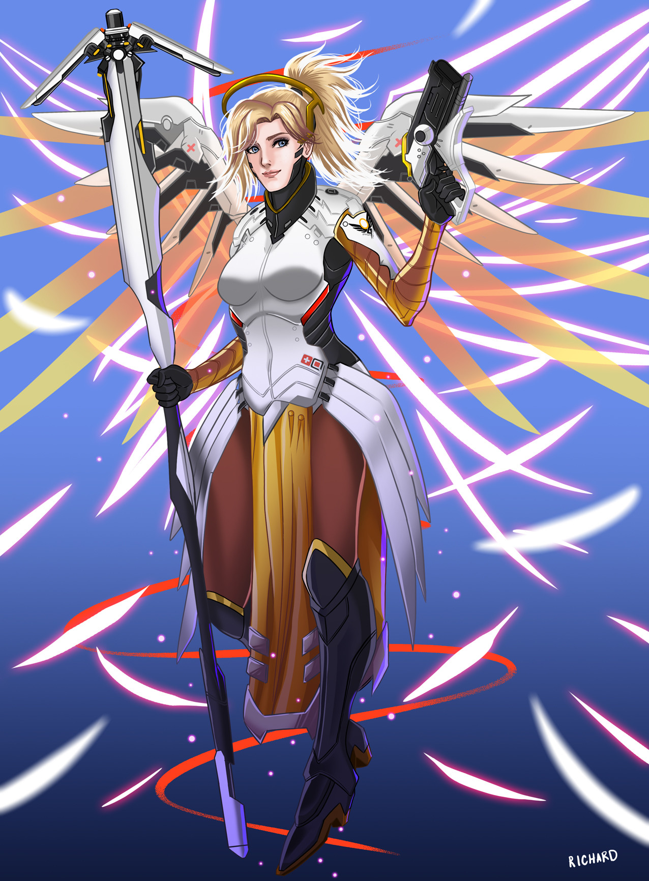 Richard Baron Reyes Mercy Overwatch Fan Art