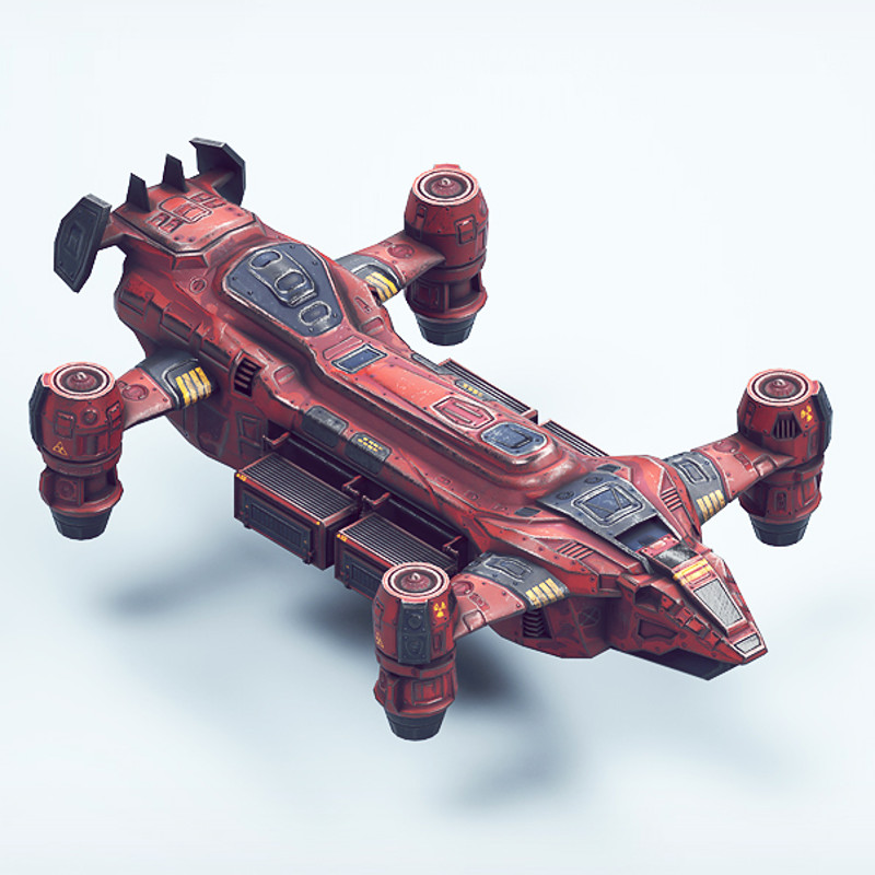 PBR Top-Down (low poly) RTS 3d Vehicle pack for Unity5