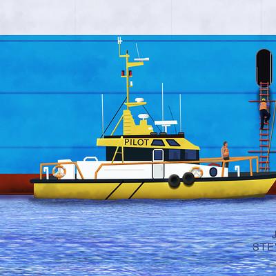 John steventon pilot boarding ship