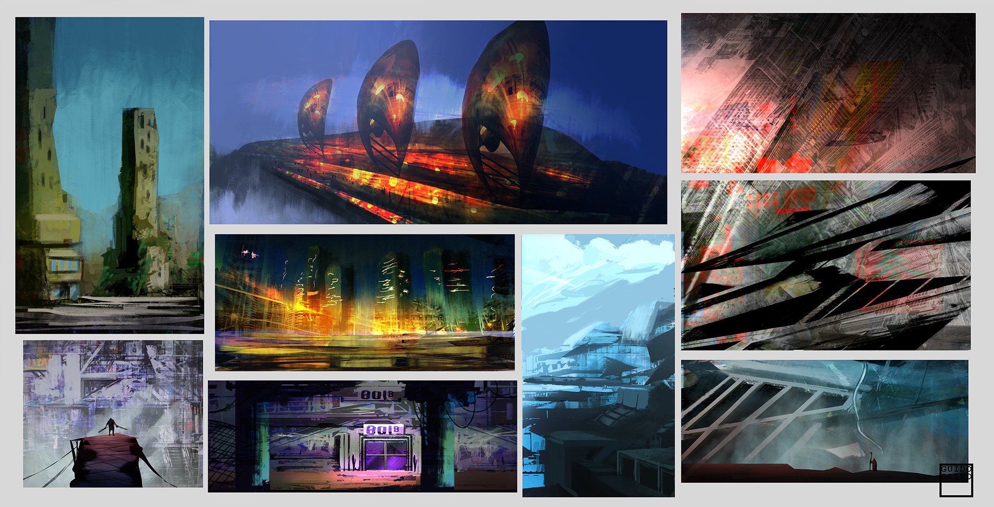 Abstract SciFi Composition Thumbnails