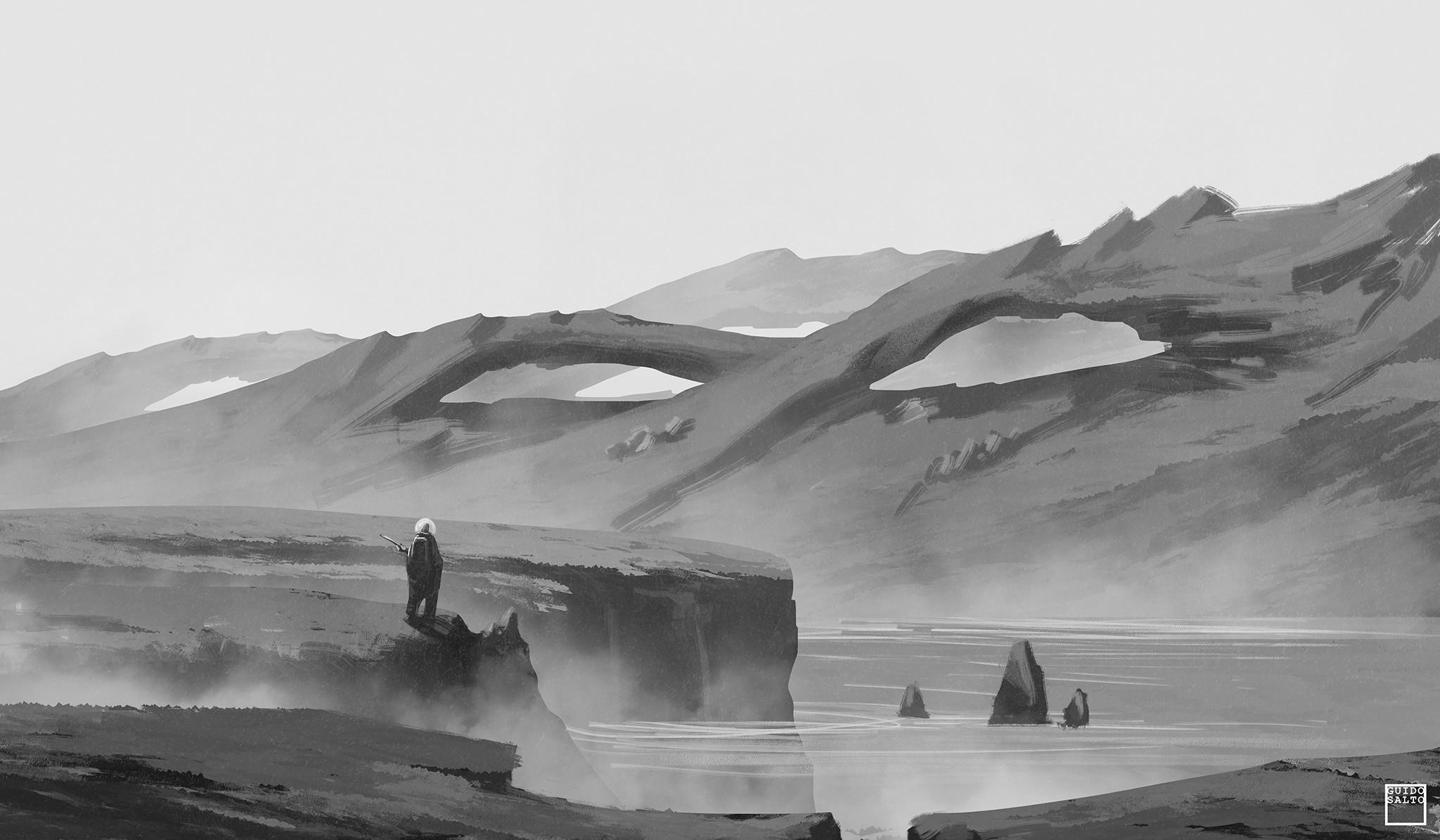 Green Planet (greyscale Sketch)