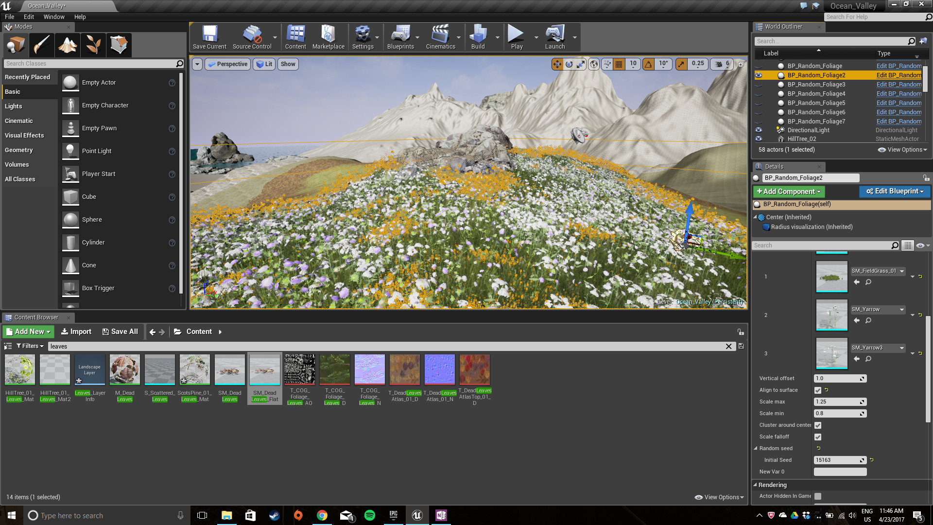 Artstation valley build 2 hb virtual design i then implemented my first blueprint which randomly distributed different types of flora and fauna into the space the blueprint also adjusted the size and malvernweather Gallery