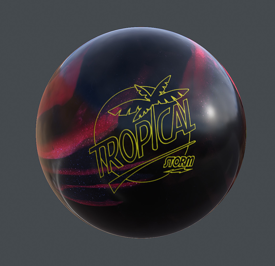 Sergey tabakov tropical ball map texture black cherry