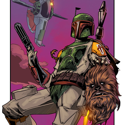 Maksim strelkov test digital ink boba fett by jorgecopo 5