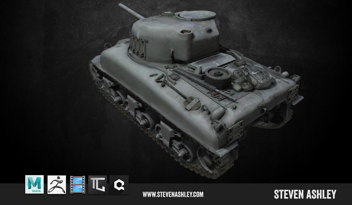 Rear View Sherman Tank