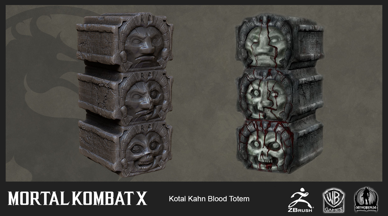 Kotal Kahn Blood Totem (High Res and In-Game with custom flowing blood material effect)