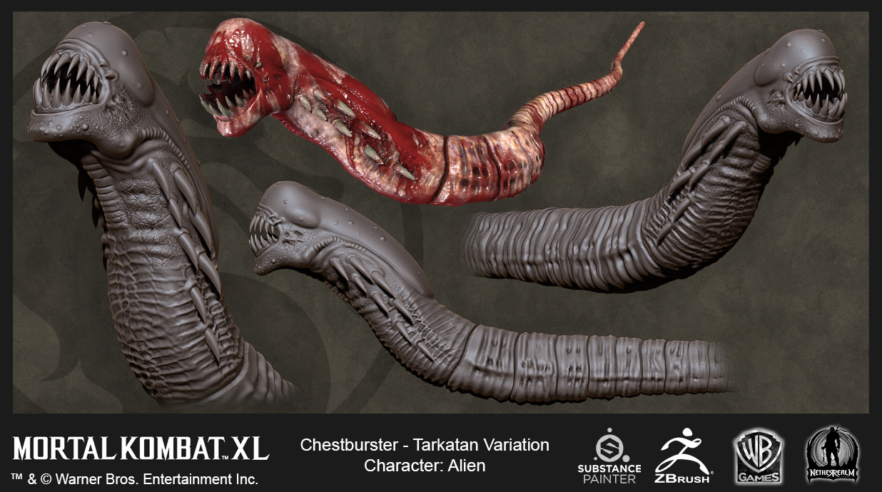 Alien Tarkatan Variation Chestburster (High Res and In-Game)