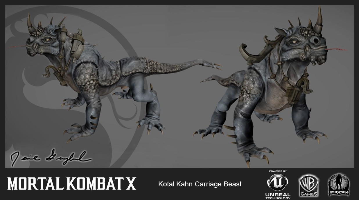 Carriage Beast (In-Game) I was responsible for the In-Game low res mesh/materials and rigging for this asset. The talented Anthony Sixto (https://www.artstation.com/artist/asixto) handled the Concept/High-Res