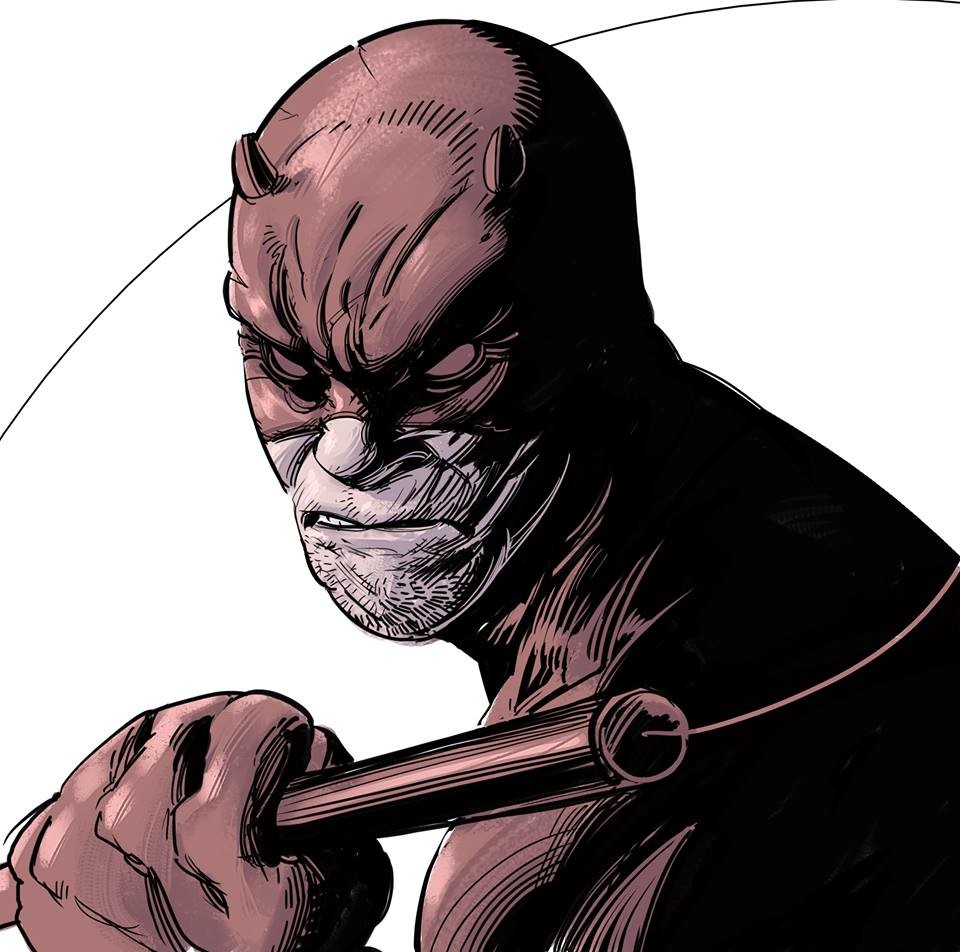 Papa's got a brand new toy and is the Cintiq 13HD! daamn feel so good, I could do lines all day, Daredevil for today