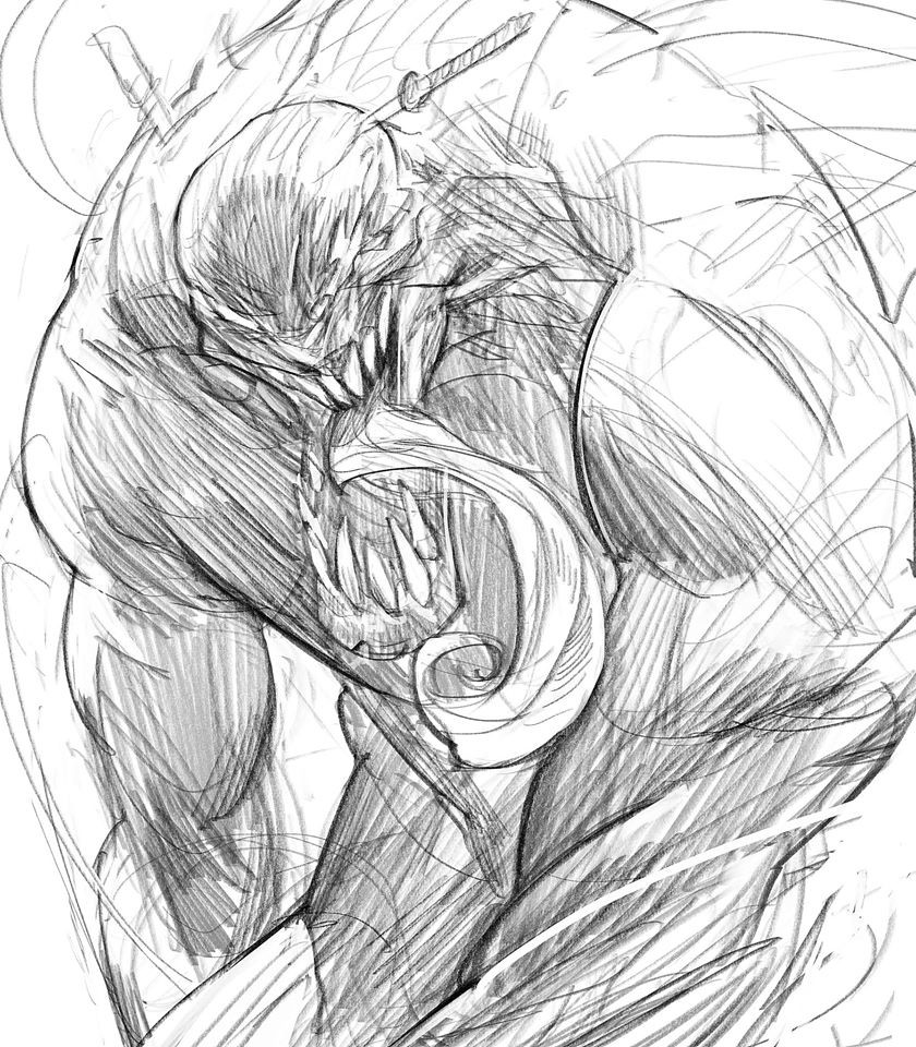 Venom challenge for no reason! just for today, go and draw this beautifull creature in danger of extinction