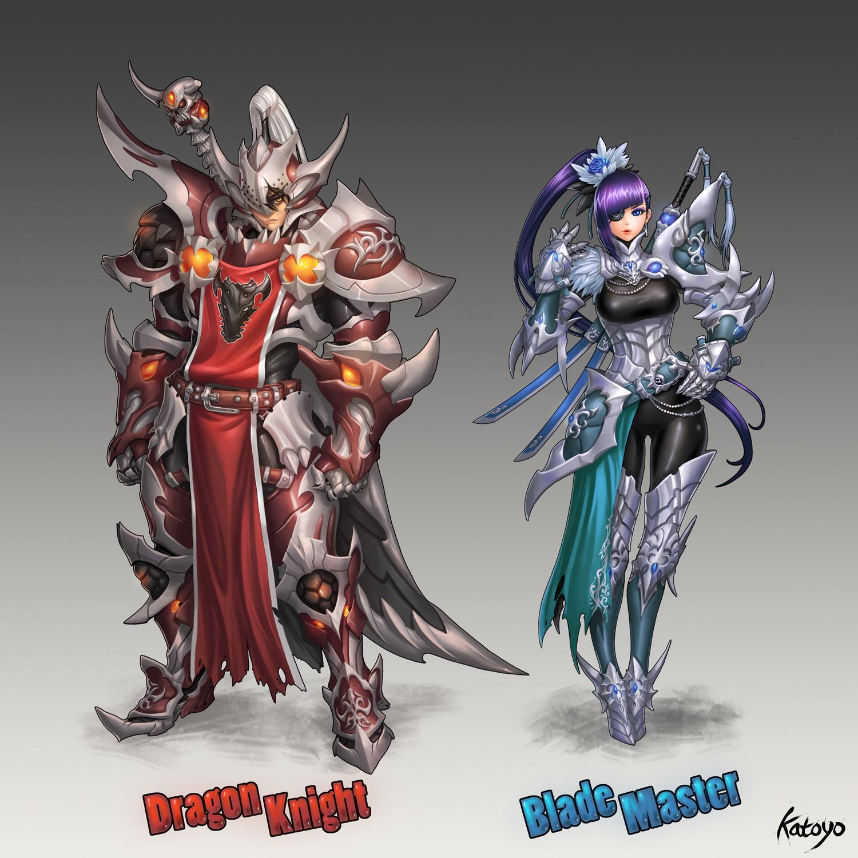 Sanghyun yu dragon knight blade master katoyo