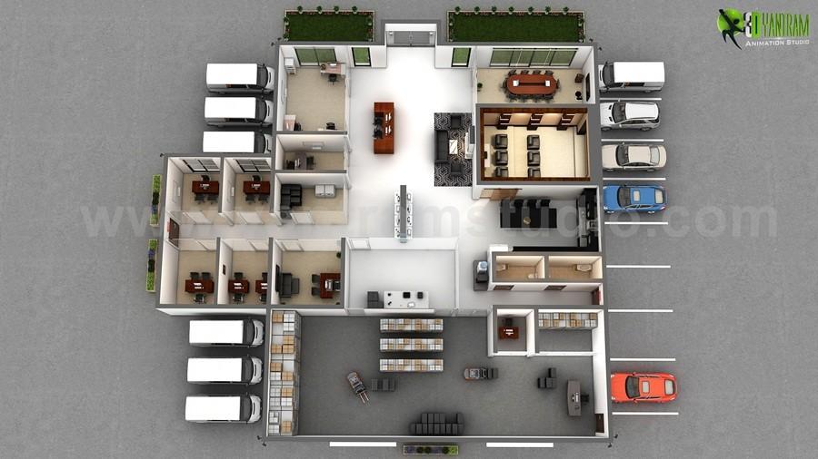 Artstation The Great Ideas For 3d Office Floor Plan Design Companies Usa Yantram Architectural Design Studio