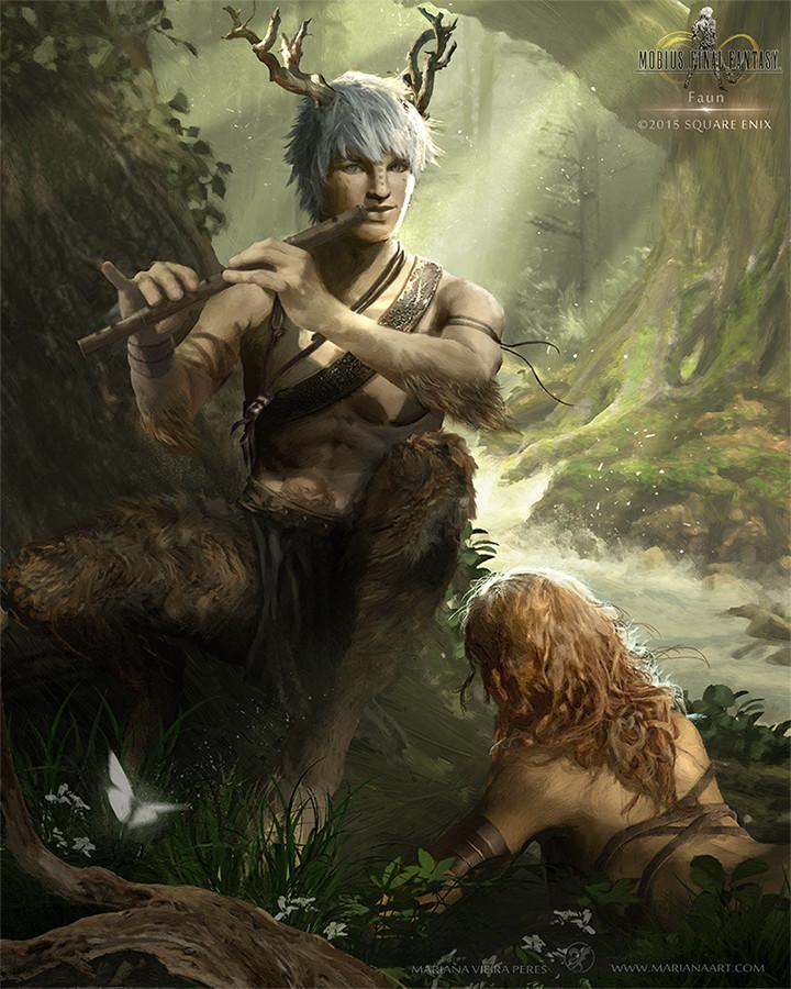 Female Faun Fantasy Art