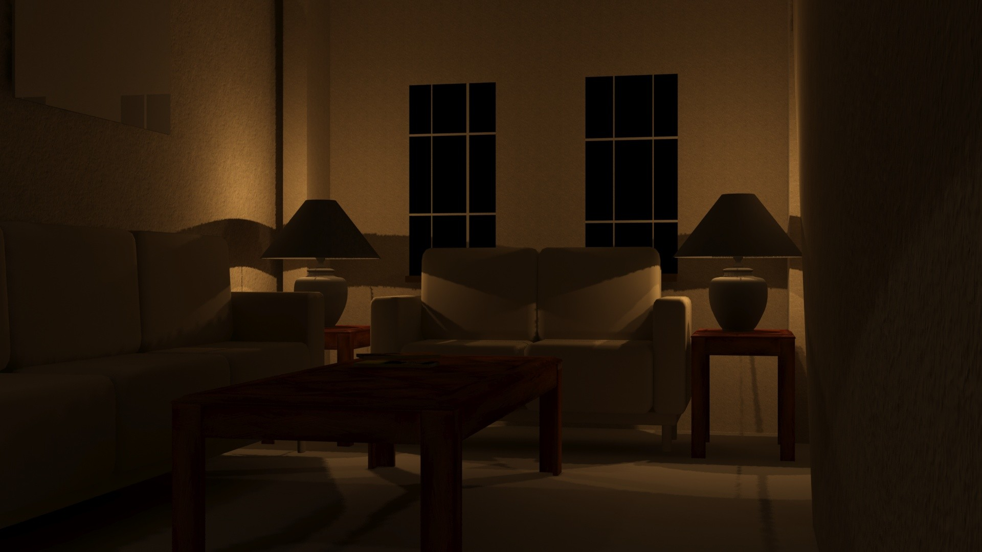 Artstation living room interior night scene joe matteis for The family room nightclub