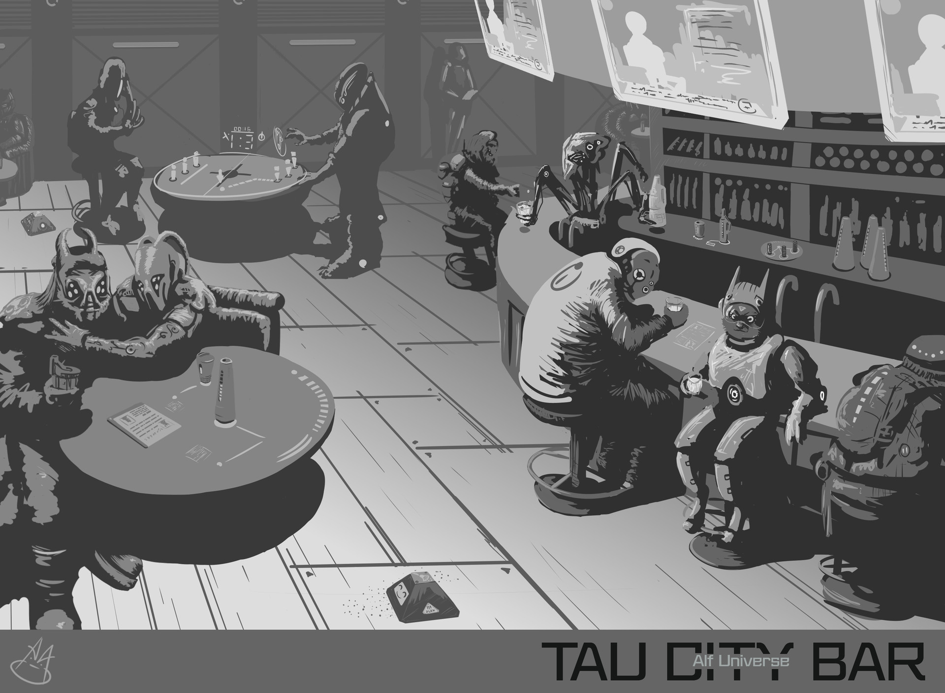 Art ankhn tau city bar alf universe