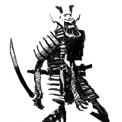 Michael katoglou samurai zombie mummy v1