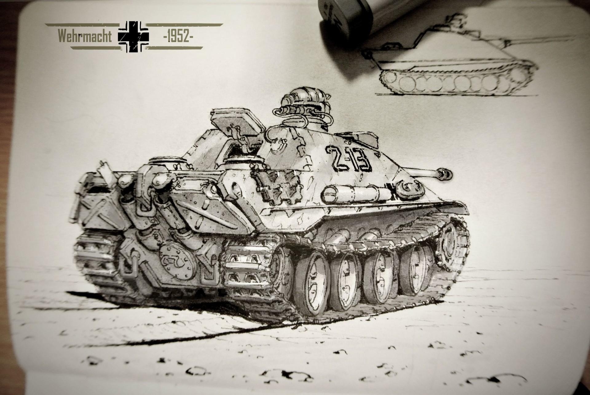 Michal kus 1952 jagdpanther rear small