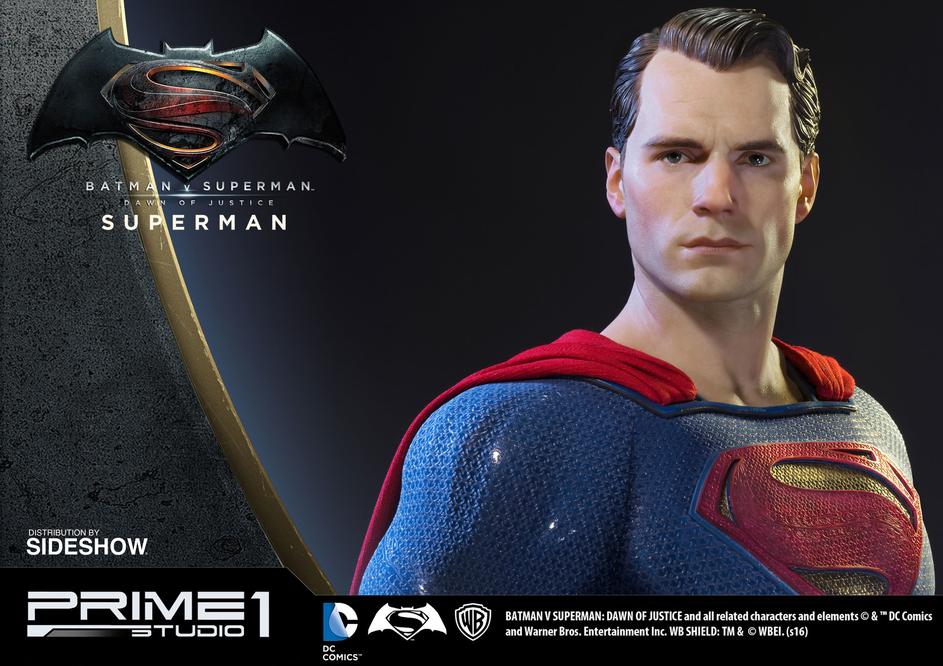 Alvaro ribeiro dc comics batman v superman superman half scale polystone statue prime 1 902664 11