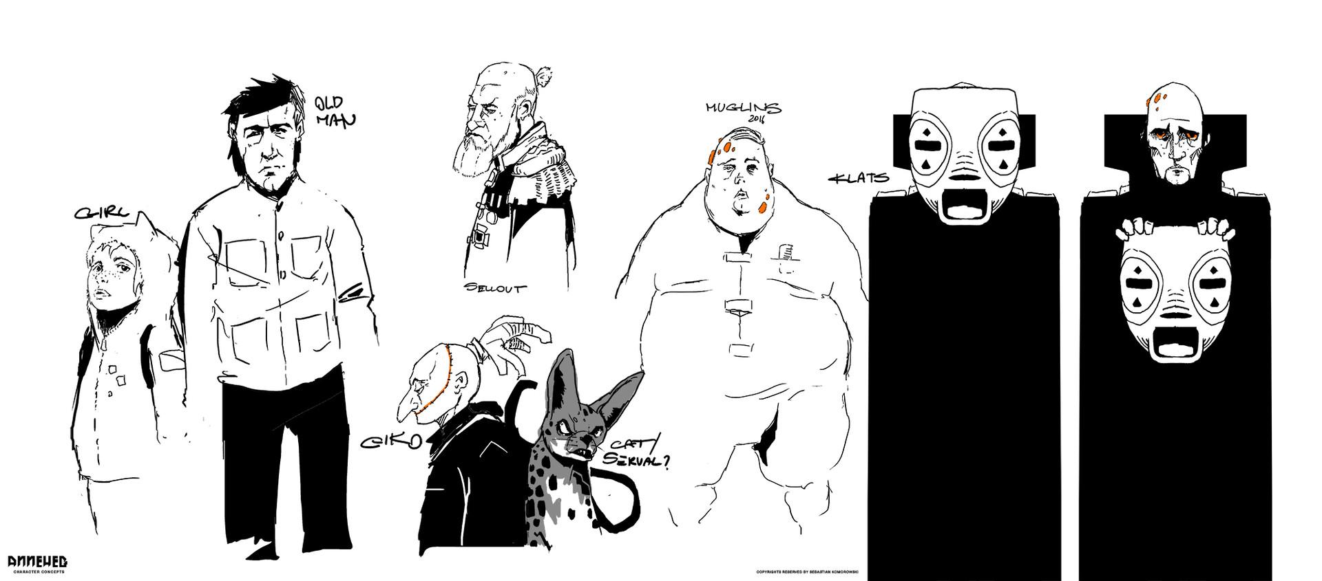 Sebastian komorowski anneheg characters