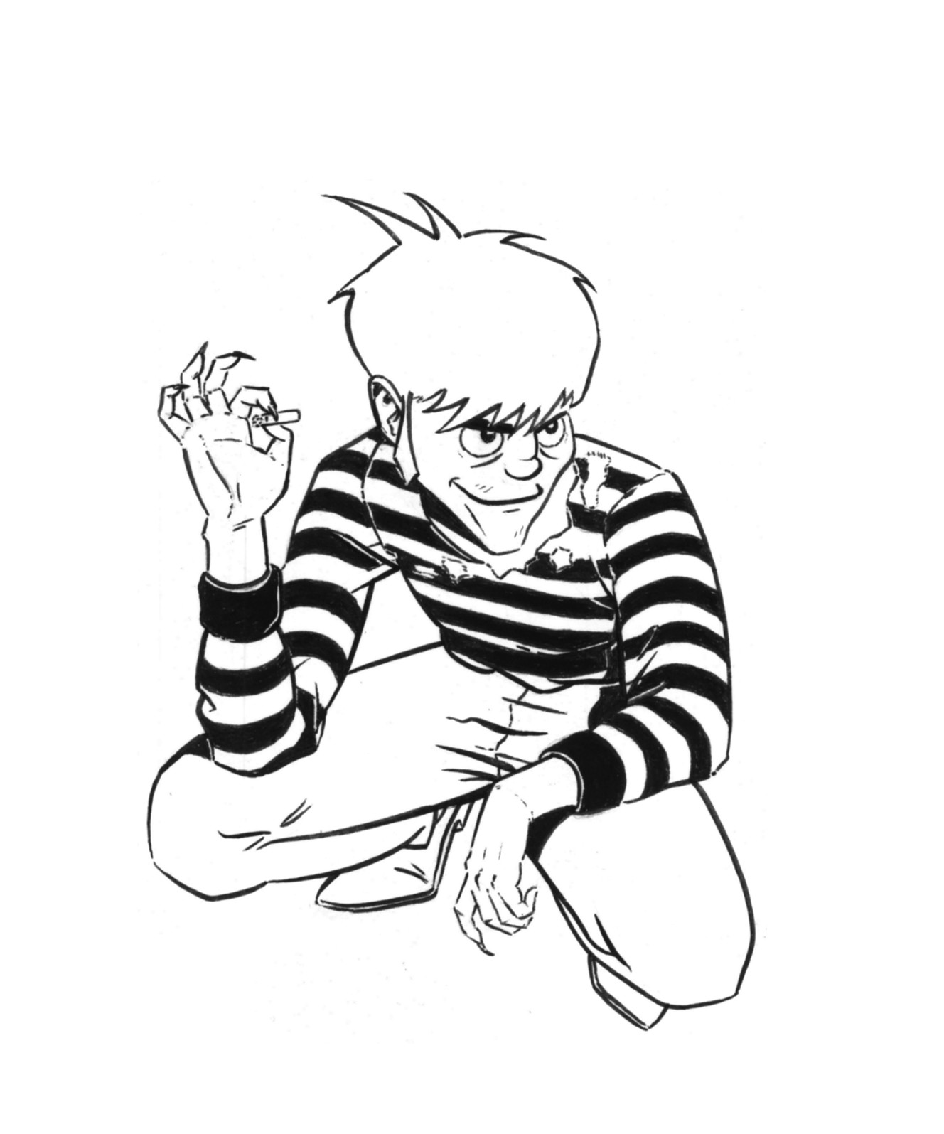The original black and white inked illustration.