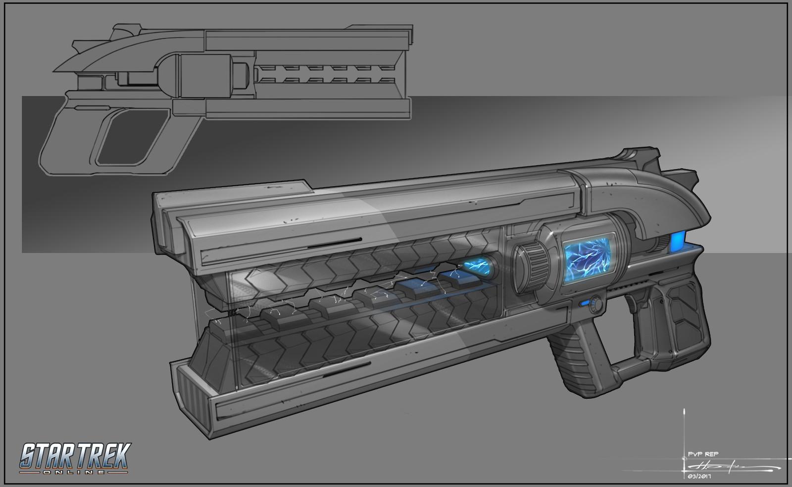 Duelist Tetryon Decompression Pistol Mk XII