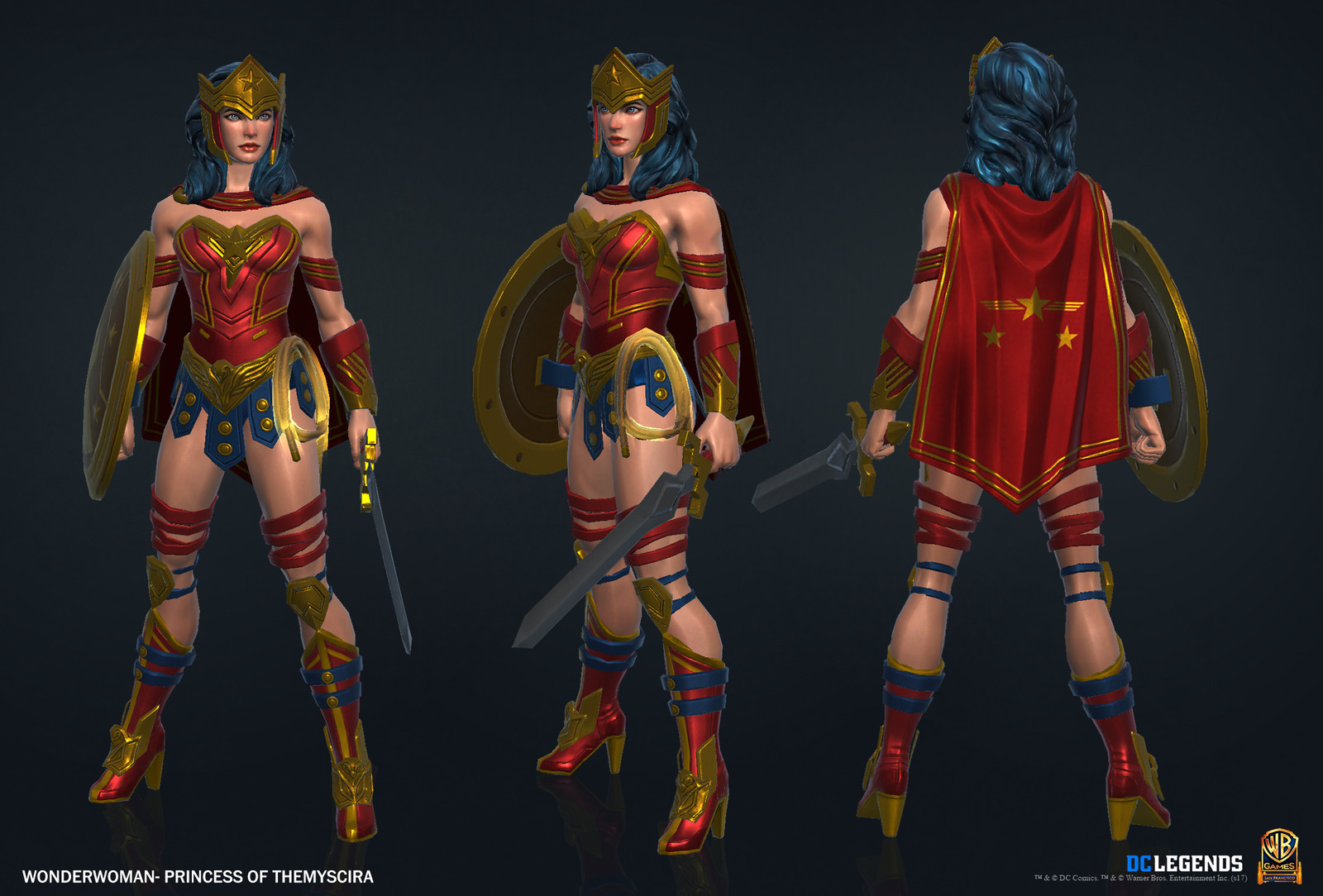 Wonder Woman Legendary.  High Poly, Low Poly Textures/Material work done by me. Sword created by Rachelle Danielle.