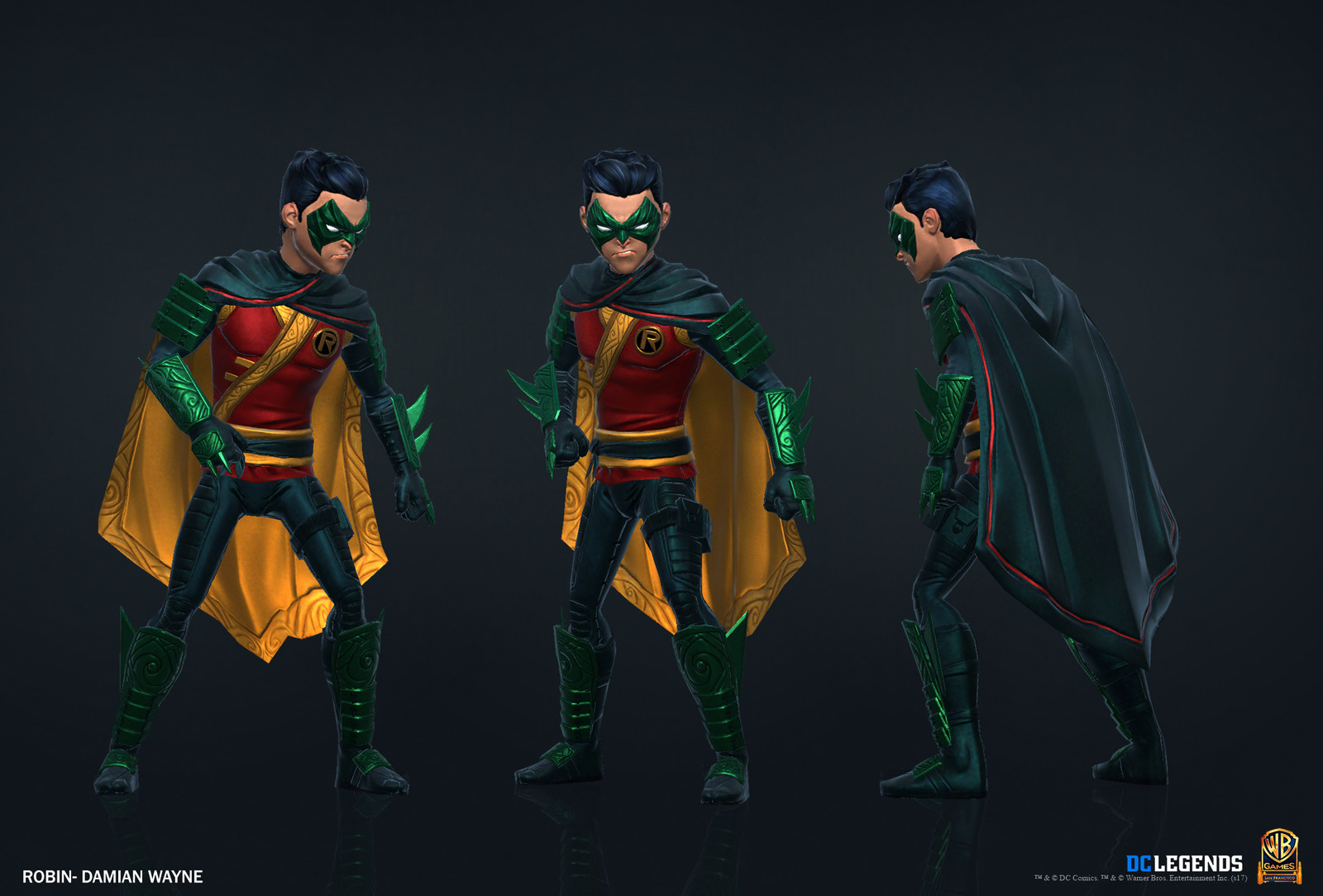 Robin Legendary High Poly, Low Poly and Textures/Material work done by me. Additional Texture/Material pass done by Rachelle Danielle