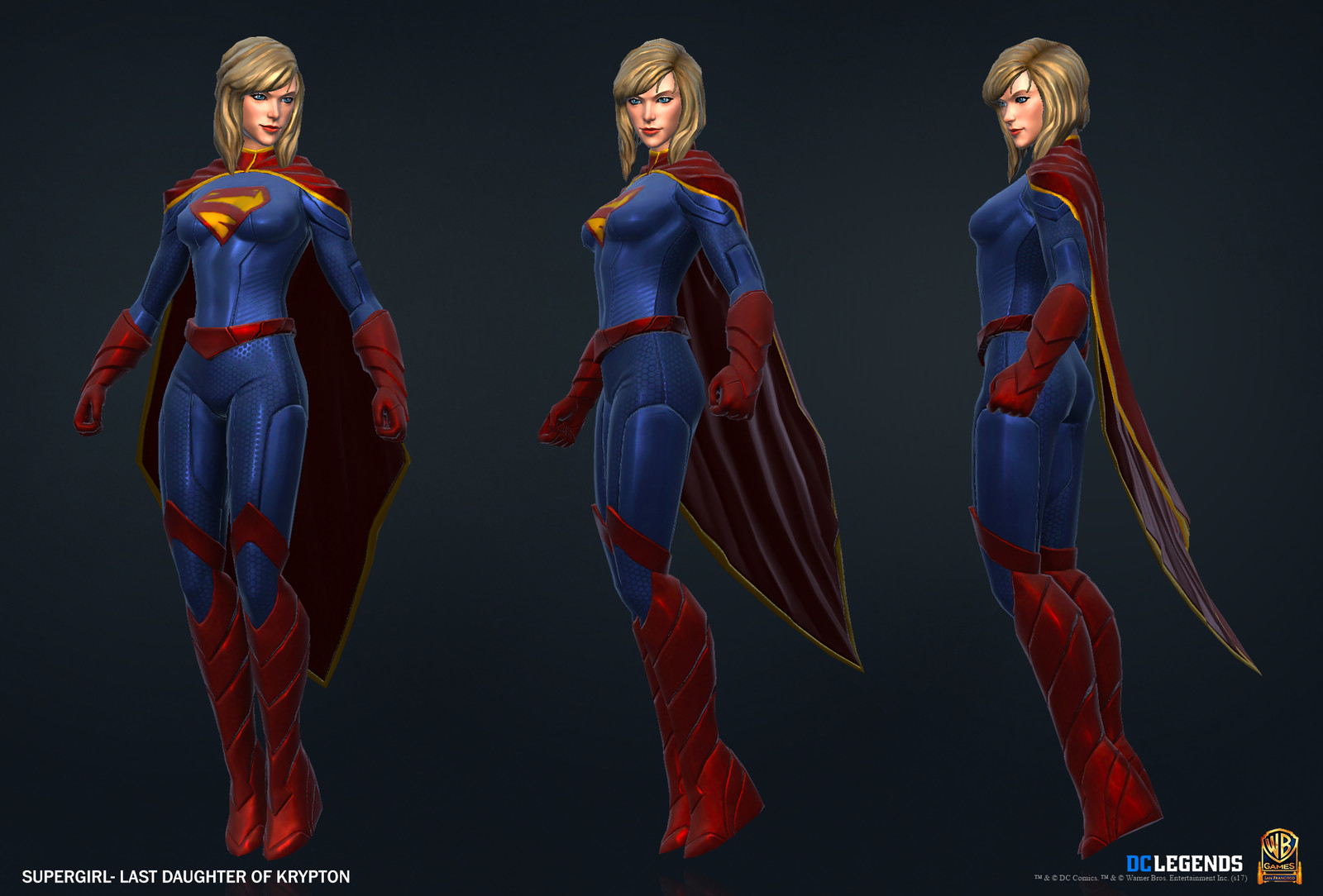 Supergirl Legendary High Poly, Low Poly Textures/Material work done by me. Additional Texture/Material pass done by Josiah Martinez.
