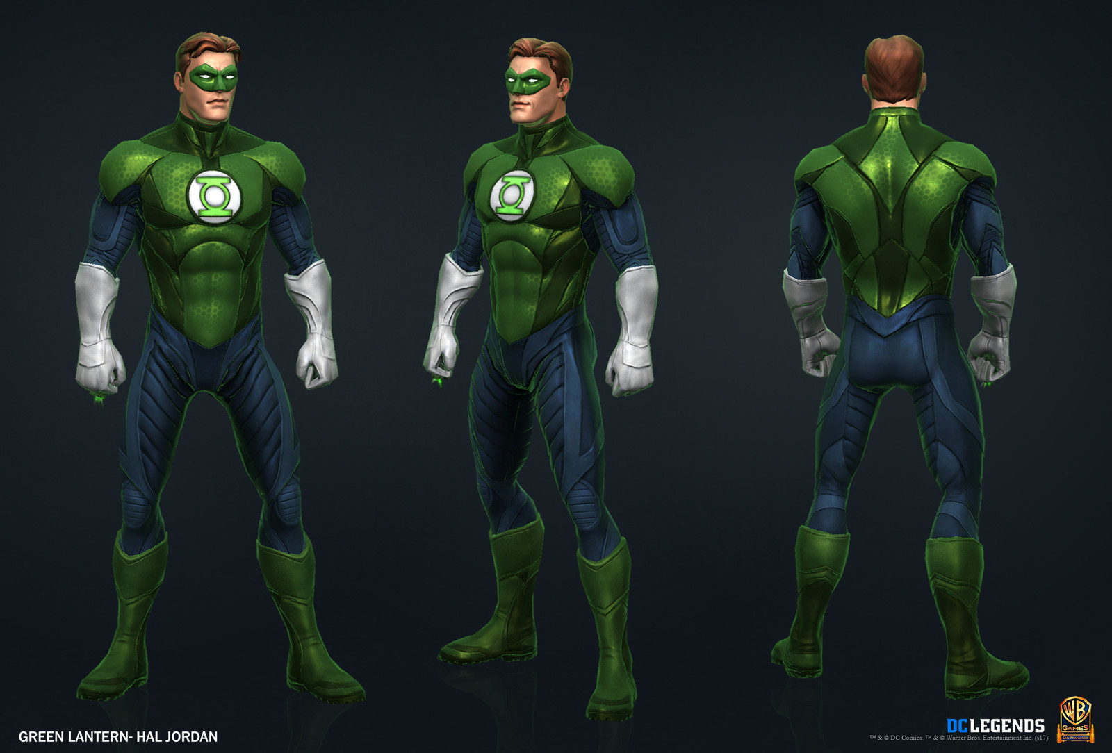 Green Lantern Hal Jordan Heroic High Poly, Low Poly Textures/Material work done by me.