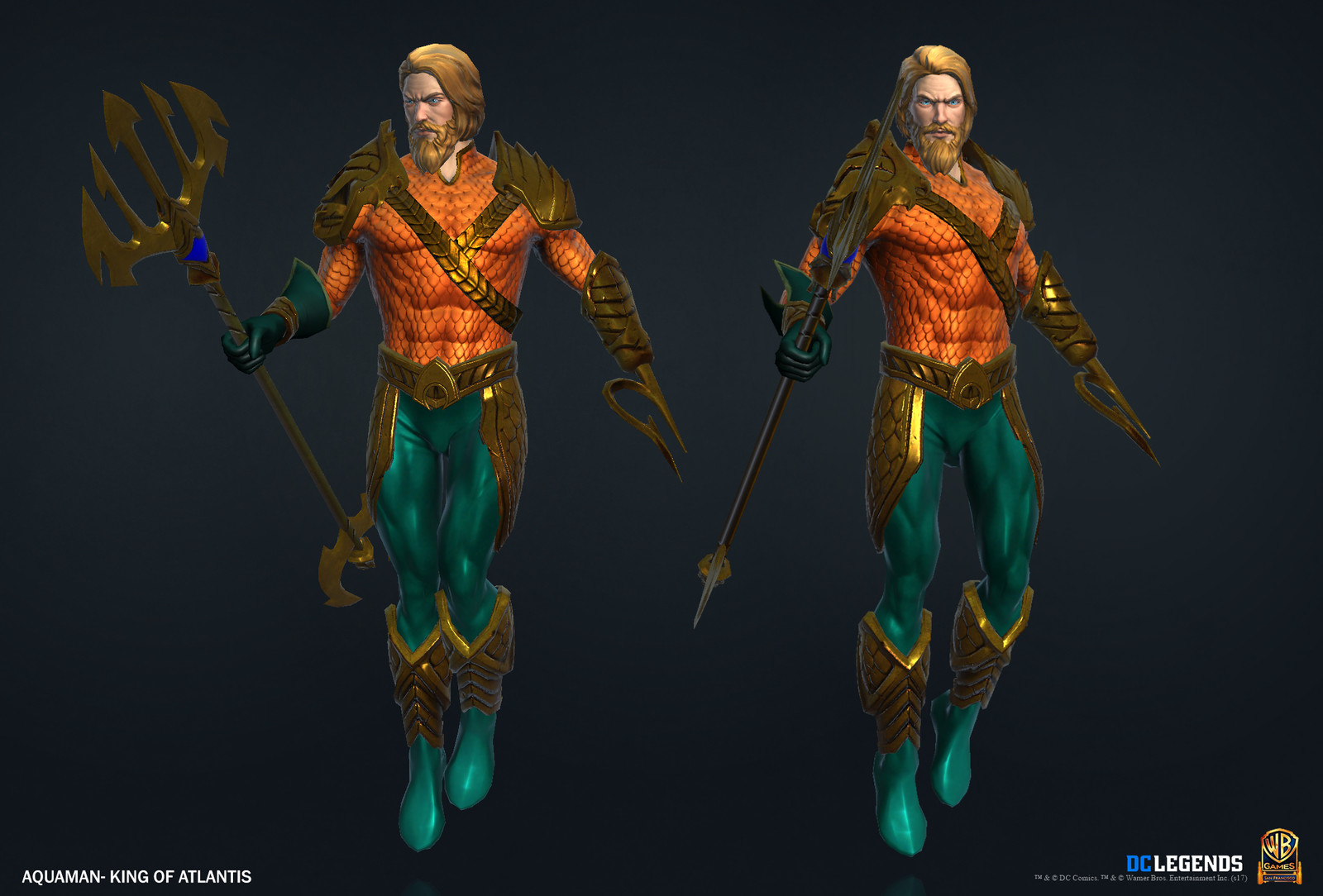 Aquaman Legendary High Poly, Low Poly and Textures/Material work done by me. Additional Texture/Material pass done by Josiah Martinez.