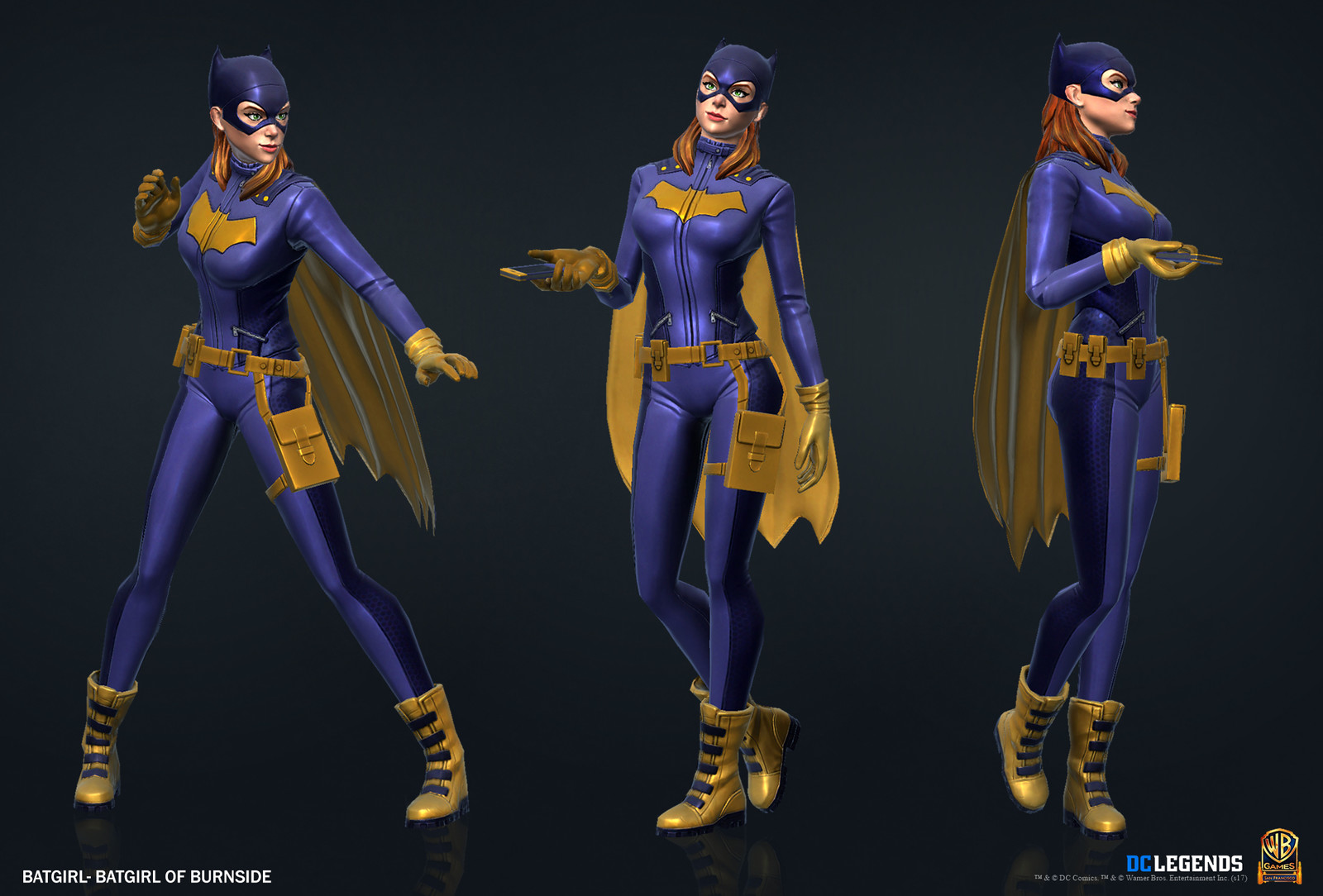 Batgirl Heroic High Poly, Low Poly Textures/Material work done by me. Additional Texture/Material pass done by Rachelle Danielle.
