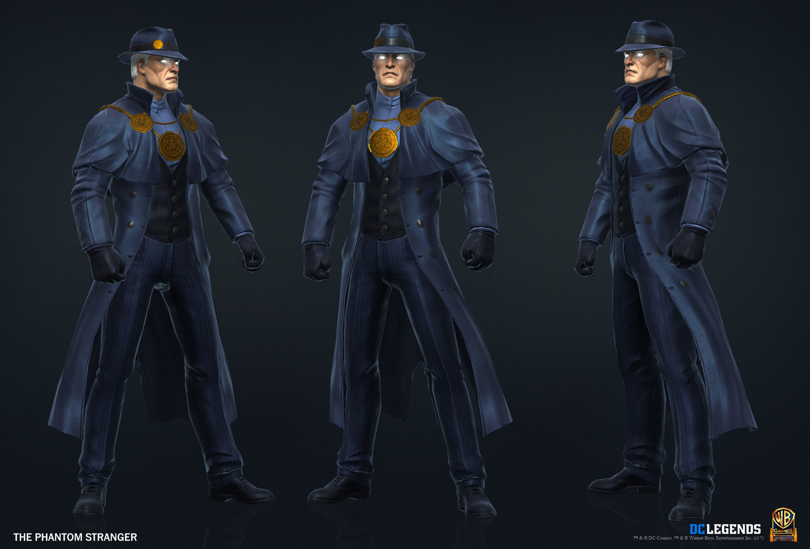 The Phantom Stranger High Poly, Low Poly and Textures/Material work done by me. Additional Texture/Material pass done by Josiah Martinez.